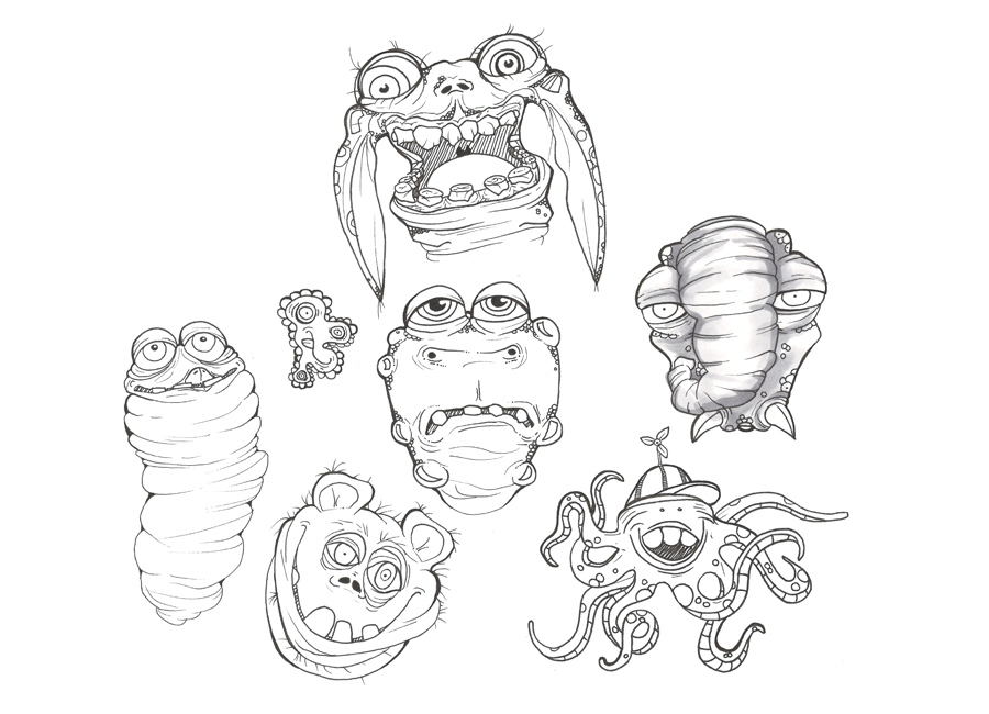 monster-sketches